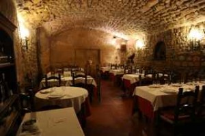 The cave restaurant in Orvieto, one of Italy's finest