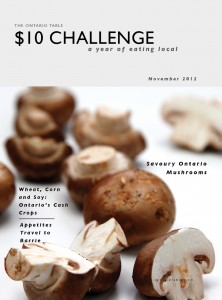 The Ontario Table $10 Challenge eZine - November Issue